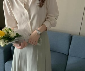 beige, fashion, and flowers image