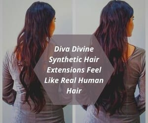 synthetic hair, synthetic hair extensions, and diva divine image