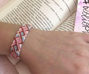 bracelet, pink, and spring image
