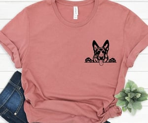 fashion, german shepherd, and t-shirt image