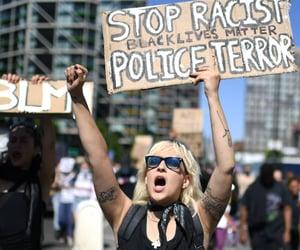 no racism, black lives matter, and george floyd image