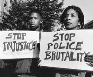 no more racism, stop police brutality, and black lives matter image
