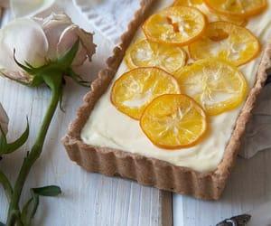 food, lemon, and tart image