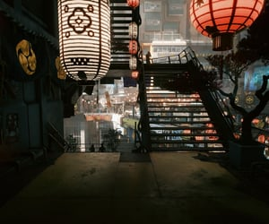 cyberpunk, levels, and stairs image