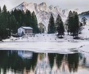 winter, landscapes, and mountains image