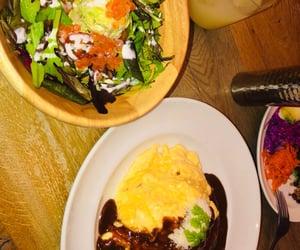 salmon, salada, and curry image
