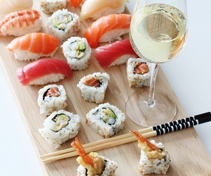 sushi and wine image