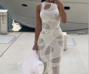 street style, summer, and white dress image