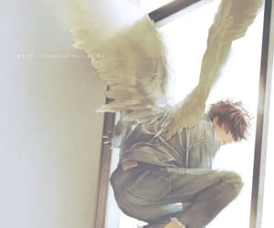 angel, art, and boy image