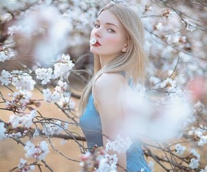 beauty, aesthetic, and blue dress image