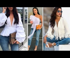 blouse, outfits, and tshirt image