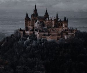 castle, aesthetic, and forest image