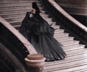 dress, black and white, and princess image