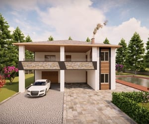 architect, house plan, and outdoor image