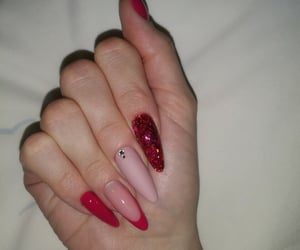 diamonds, nails, and pink image