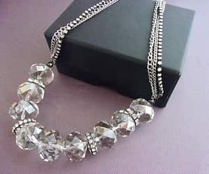 crystal necklace, swarovski crystal jewelry, and etsy image