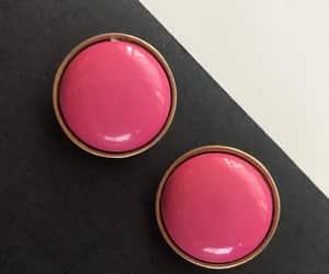 etsy, hollywood regency, and pink earrings image