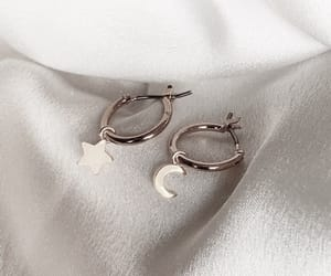 fashion, earrings, and moon image