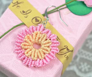 diy, nylon thread, and earring image