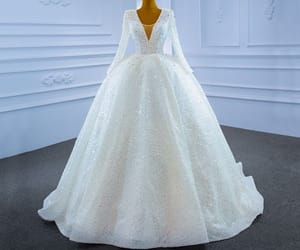 ball gown, rhinestone, and sparkly image