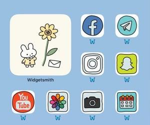 cute homescreen blue apps image