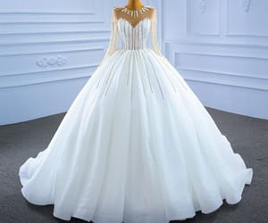 ball gown, rhinestone, and sequins image
