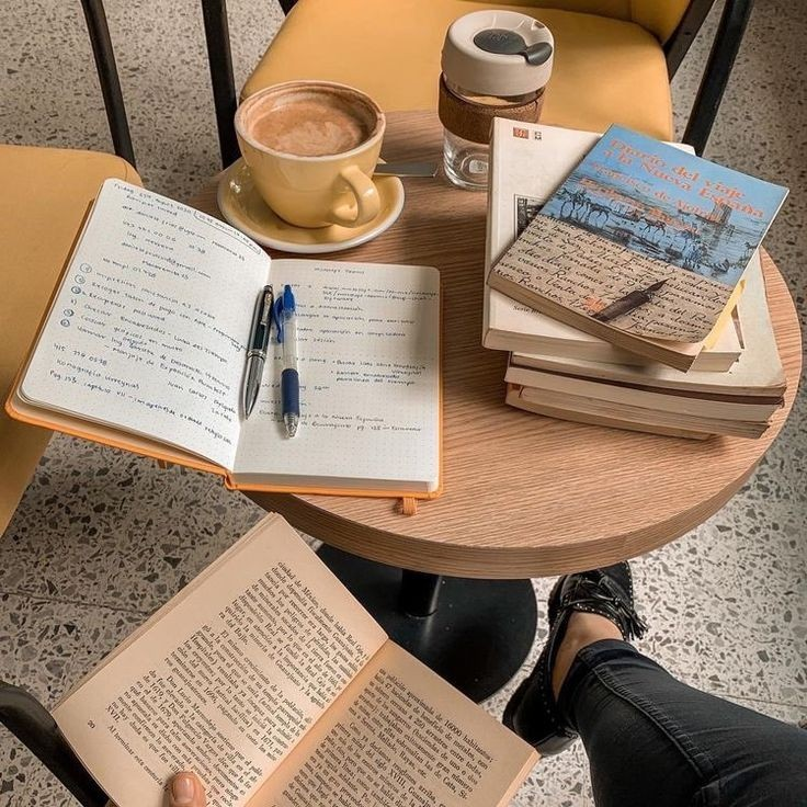 literature, bookshop, and coffe image