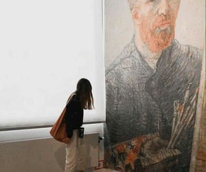 girl, museum, and art image