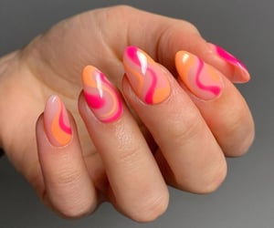 manicure, nails, and nail inspo image