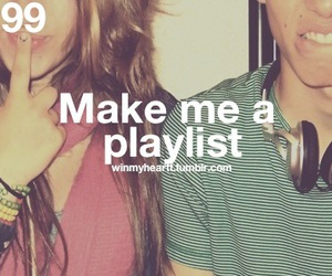 couple, playlist, and text image