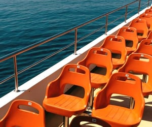 boat, chairs, and sit image