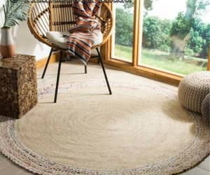 braided rug, living room rug, and dining room rug image