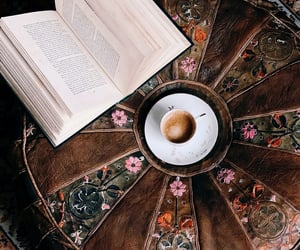 books, ottoman, and reading image
