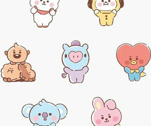baby, baby bt21, and animation image