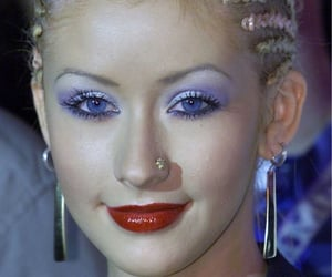 braids, earrings, and eyeshadow image