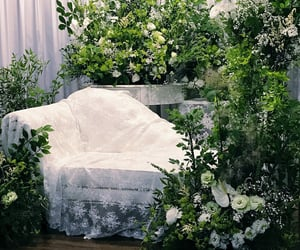 florals, seating, and sit image