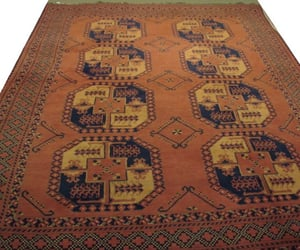 bokhara rugs, brown color, and wool area rug image