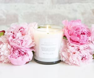 candle, candles, and peonies image