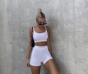 blonde, sunglasses, and fashion image