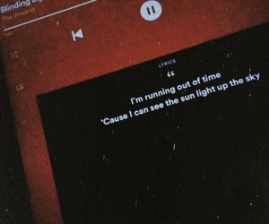 Lyrics, the weeknd, and blinding lights image