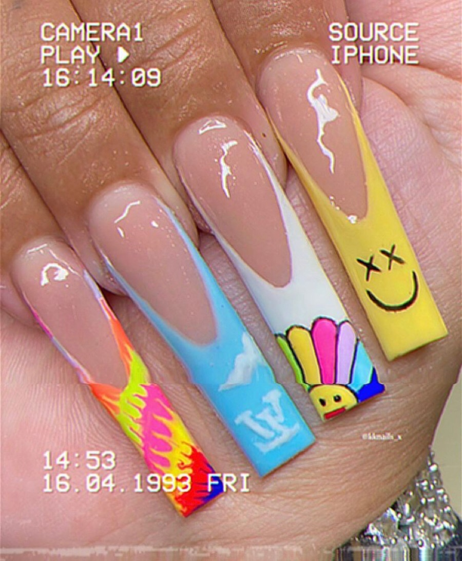 aesthetic, nails, and nail ideas image