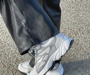 black leather pants, zadig et voltaire pants, and zadig&voltaire sneakers image