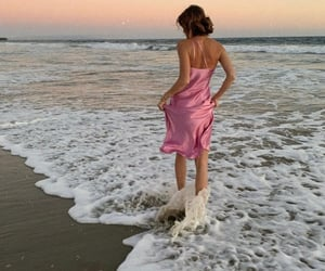 ocean, pink, and dress image