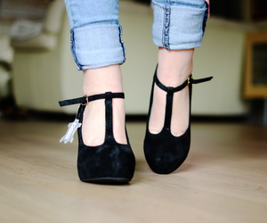 black, good, and heels image