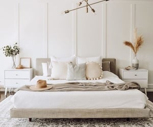 bed, cozy, and minimalism image