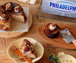cheesecake, food, and dessert image