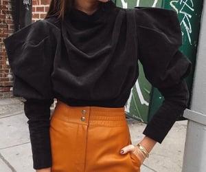 chic, orange, and puff image