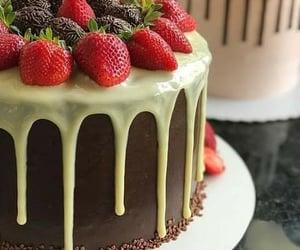 brigadeiro, chocolate cake, and cream image