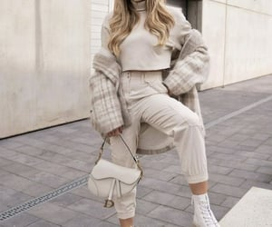 accessories, beige, and girl image