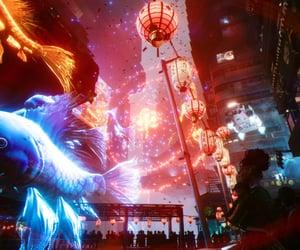 blue, futuristic, and cyberpunk image